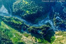 Aerial view of the San Clemente site, Carmel River (post-removal)