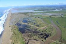 Aerial View of Eel River Delta