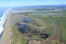 Aerial View of Eel River Delta