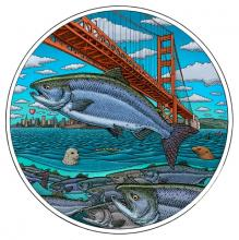 Golden Gate Salmon Artwork by Ray Troll