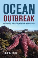 Ocean Outbreak book cover, features a photo of a pink sea star