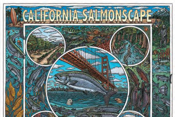 """California Salmonscape"" by Ray Troll"