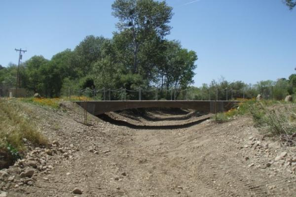Quiota Creek at Crossing 0A, a recently completed fish passage project within the Santa Ynez River basin